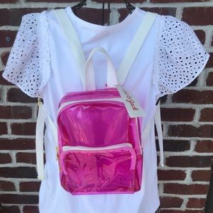 CAT & JACK PINK CLEAR MINI BACKPACK NEW WITH TAGS